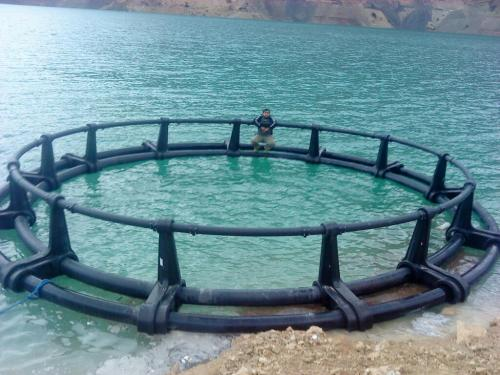 لوله پلی اتیلن و قفس پرورش ماهی