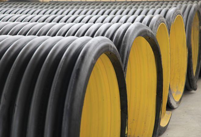 لوله پلی اتیلن دو جداره ۴۰۰ میلیمتر